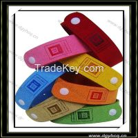 1.4mm thick full color faux suede leather baby Mosquito repellent bracelet