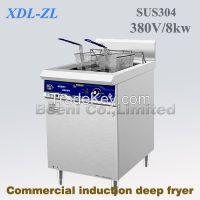 380v 8000W Restaurant grade commercial deep fryer,induction deep fryer