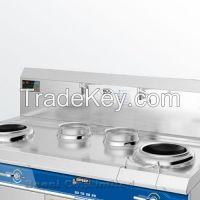 380V 8KWx2 Heavy duty wok range, Double-head with double stock pot