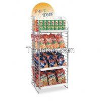 Metal snacks display stand