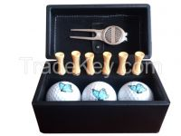 Golf gift set with golf  tee      marker and golf ball