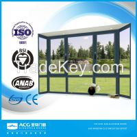 ACG brand high quality aluminum frame glass window wholesale