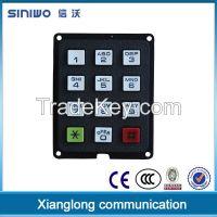 plastic 12 keys numeric keypad door access control keypad