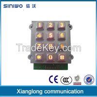 zinc alloy 3x4 metal keypad standalone single door access controller keypad