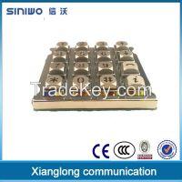 zinc alloy 4x4 metal keypad digital door lock and cabinet security electronic keypad