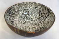 coconut shell bowl multi design eggshell inlaid heart shape handmade in Vietnam high quality bowl
