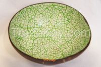 coconut shell bowl lacquerware eggshell inlaid heart shape handmade in Vietnam high quality bowl