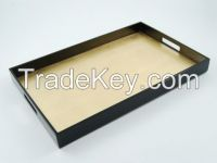 lacquer tray regtangle lacquer tray with gold and black color
