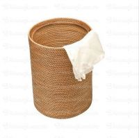 rattan basket laundry basket for household handwoven in Vietnam