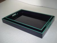 lacquer tray handmade in Vietnam black color