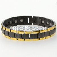 For Men New Gold Black Hand Chain Magnetic Germanium Bracelet Models