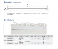 Renesola 9W LED Tube,1/3 aluminum+2/3 plastic non-dimmable internal non-isolated driver frosted