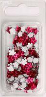 Pink Flower Gemstone Sticker (GSS1506F)