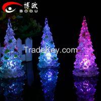 festival used led christmas tree with lighting color/2015 HOT christmas tree led night light