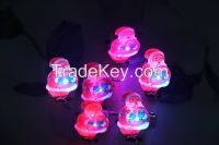 LED Santa Clause Brooche Pin Shining Christmas Gifts