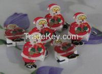LED Santa Clause Brooche