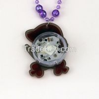 Lovely Bead Chain Personality Skull Pumpkin Cartoon Pendant Necklace