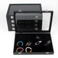 Jewelry Collection Jewellery Bracelet Necklace Ring Earring Display Box Case Tray