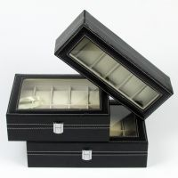 Leatherette Jewellery Glasses Sunglass Watch Display Jewelry Collection Box Case