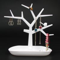 Plastic Jewelry Bracelet Necklace Ring Earring Display Stand Rack Jewellery Holder