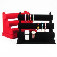 Velvet Jewelry T-Bar Jewellery Necklace Headwear Hair Hoop Bangle Watch Bracelet Display Stand Rack Holder
