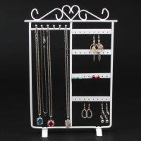 Metal Jewelry Bracelet Necklace Earring Display Stand Rack Jewellery Holder For Panel