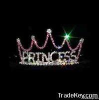 Silver rhinestone princess
