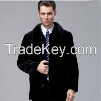 2015 Popular Statehood Mink Hair Collar 100% Guaranteed Natural Real Sheepskin Wool Genuine Leather Clothing Male Coat Clothing