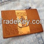 Embossed Leather Patches