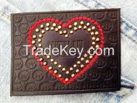 Colourful Leather Patches For Jeans