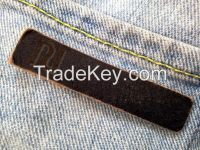 Customized High Quality Embossed Jeans Leather Patch