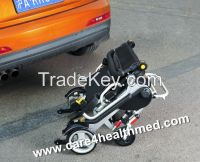 Lightweight Foldable Electric Brushless Motor Power Wheelchair with Lithium Batteries