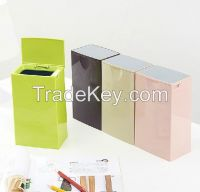 Cheap room recycling plastic waste can car dustbin