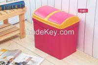 House innovative decorative plastic rectangular waste bin