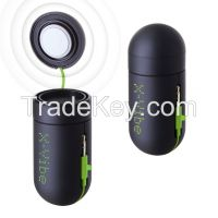 XDREAM X-VIBE 3.0 Portable Mini Vibration Speaker System (Matt Black + Green Cable)