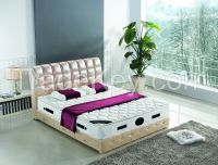 NYF558 # modern Europe popular leather bed with crystal