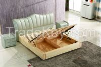 NYF553 # modern design solid wood hydraulic lift storage bed bedroom bed