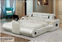 LF611 # modern leather music audio TV bed king size