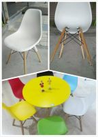 Classic plastic PP and metal material chairs and table sets