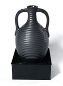 Ceramic Garden fountain - Color : Matt black