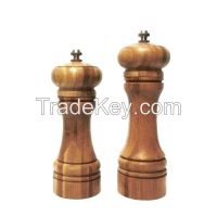 Natural wood Bamboo Manual Salt and Pepper mill/ grinder/ muller