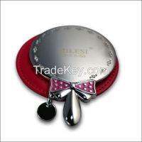 wholesale custom made round metal cosmetic pocket mirror