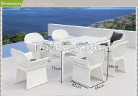 outdoor patio rattan furniture garden dining table set
