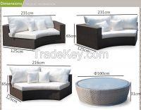 outdoor rattan furniture garden sofa set
