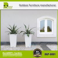 outdoor garden furniture PE rattan planter flower pot