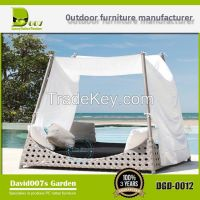 outdoor aluminium frame rattan furniture garden daybed