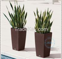 outdoor garden furniture PE rattan planter flower pot