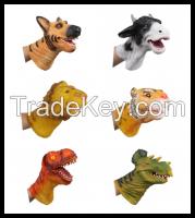 dinosaur animal hand puppets