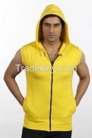 Mens Sleeveless Sweat Shirt  with Hood