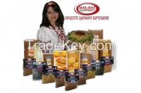 Health food: Pasta, Flour (Rye, Wheat), Bran, Malt, Vegetative Dietary Supplements